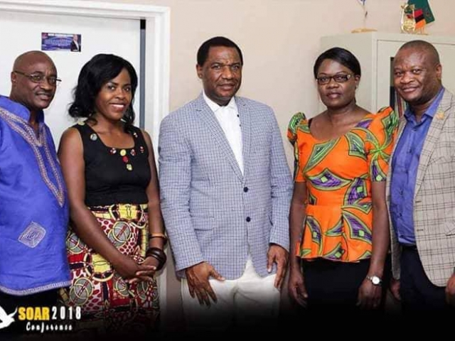 Bishop Nwaka with the Simpungwe's in Kalulushi Zambia conference