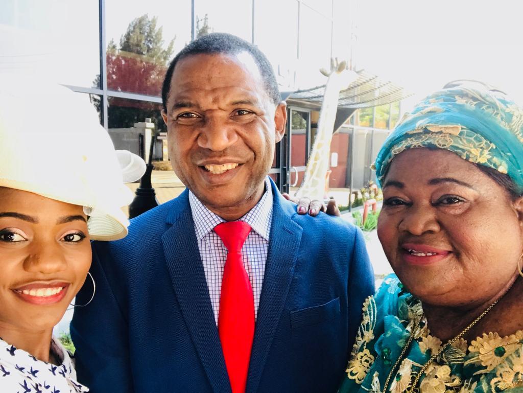 Bishop Nwaka with Mrs Nwaka Luki and Dr Tarisa Nwaka